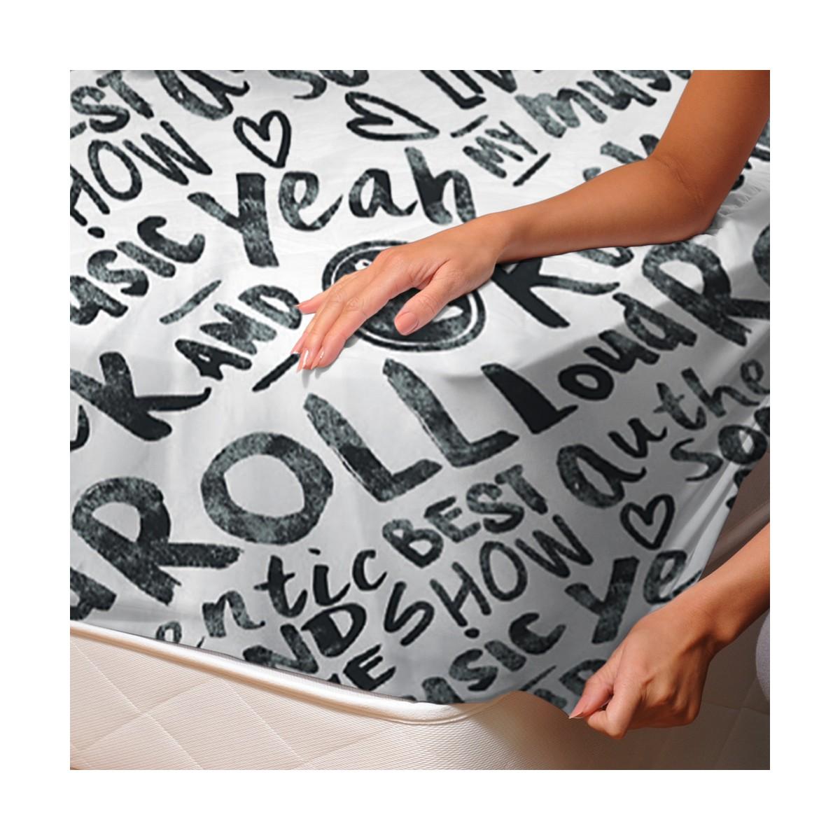 Rock roll drap housse 100 coton linge de lit for Housse de couette rock and roll
