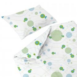 Les Poissons - 100% Coton parure de lit pour bébé (Housse de couette et Taie d'oreiller)