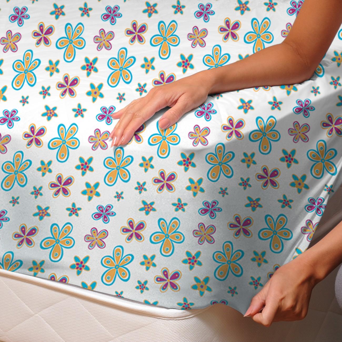 Demetra masha drap housse 100 coton linge de lit for Drap housse in english