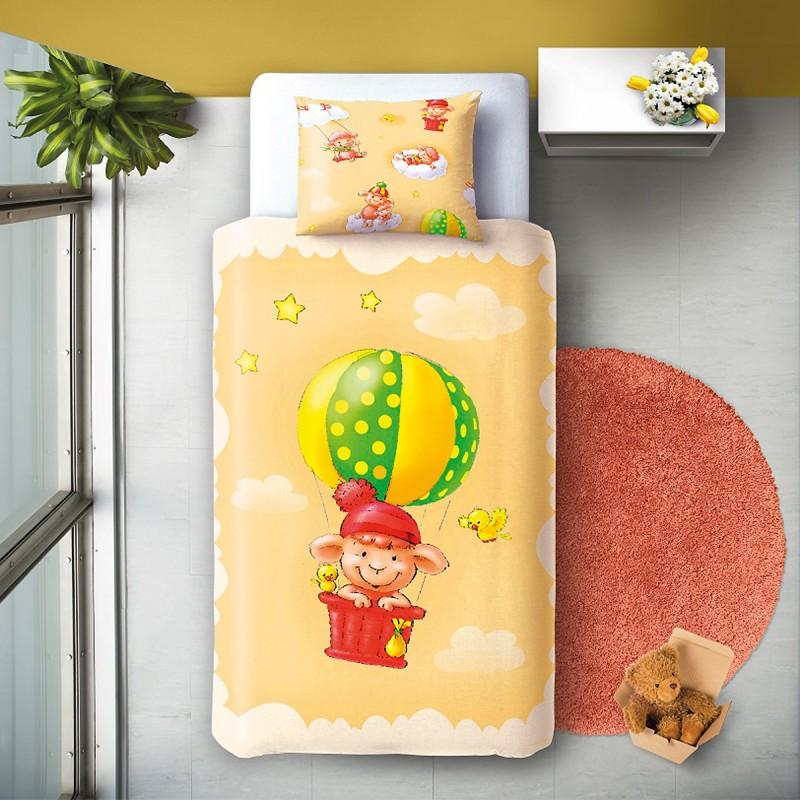 Ballon 100 coton parure de lit pour b b housse de for Housse de couette pour lit bebe