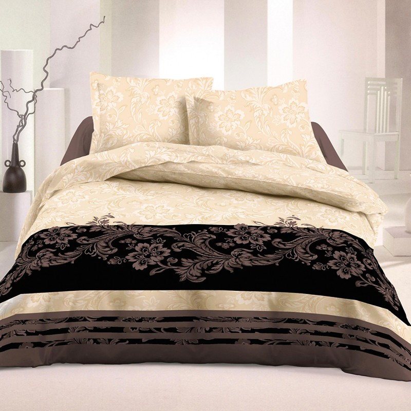 selena satin de coton parure de lit housse de couette et taies d 39 oreiller soulbedroom. Black Bedroom Furniture Sets. Home Design Ideas