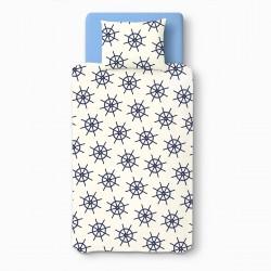 Baby Navy Bleu - 100% Coton parure de lit pour bébé (Housse de couette et Taie d'oreiller)