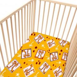 Baby Girafes / Lot de 2 Draps Housse - 100% Coton linge de lit pour bébé