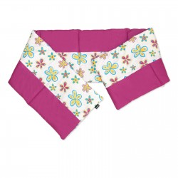 Baby Colorful Flowers & Cyclamen - Cot / Crib Bumper Pad Half