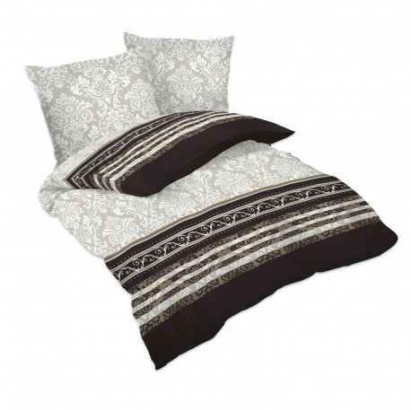 Rococo - Bed Linen Set, 100% Cotton (Duvet Cover & Pillow Cases)