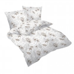 Gold petals - 100% Cotton Bed Linen Set (Duvet Cover & Pillow Cases)