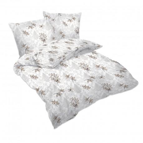 Gold petals - 100% Cotton Bed Linen Set (Duvet Cover & Pillow Cases)