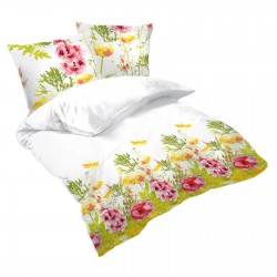 Iris Flowers - 100% Cotton Bed Linen Set (Duvet Cover & Pillow Cases)