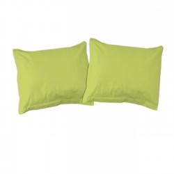 Vert - Taies d'oreiller ou traversin / 100% Coton