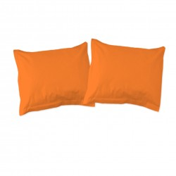 Orange - Taies d'oreiller ou traversin / 100% Coton