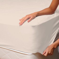 Ecru - Fitted Sheet / 100% Cotton Bedding
