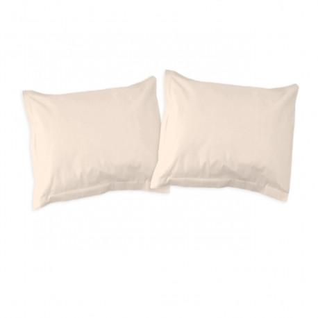 Ecru - Taies d'oreiller / 100% Coton