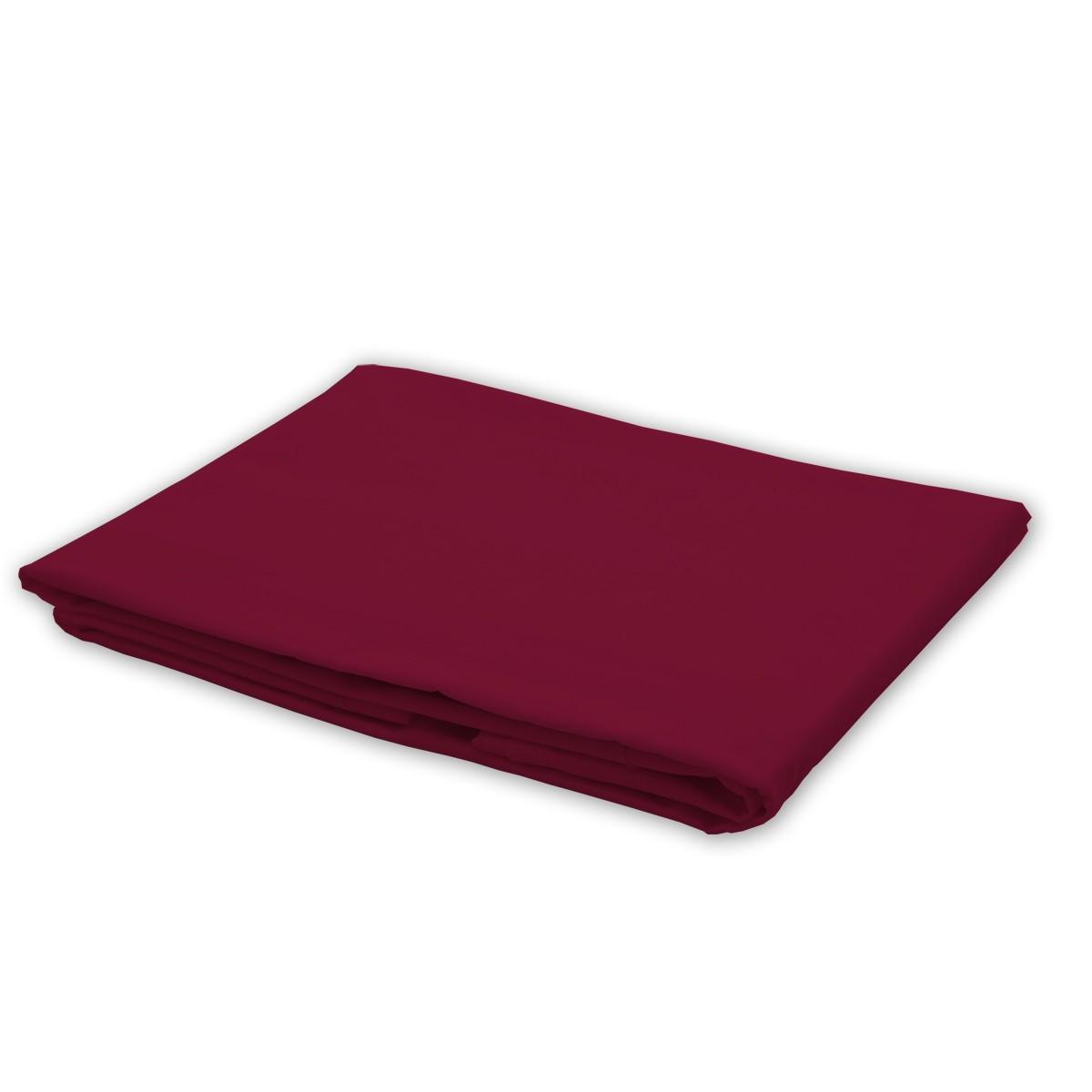 Linge De Maison Bordeaux bordeaux rouge - drap / 100% coton linge de lit - soulbedroom eurl