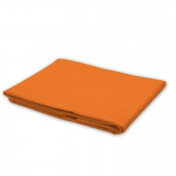 Orange - Flat Sheet / 100% Cotton Bedding