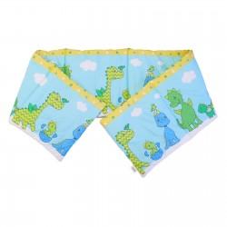 Baby Happy Dinosaurs - Pati'Chou Cot / Crib Bumper Pad Half