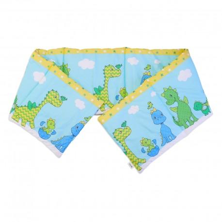 Baby Happy Dinosaurs - Cot / Crib Bumper Pad Half