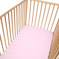 Baby Light Pink / Pack of 2 Fitted Sheet - 100% Cotton Cot / Crib Bedding