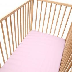 Rose Clair / Lot de 2 Draps Housse - 100% Coton linge de lit pour bébé