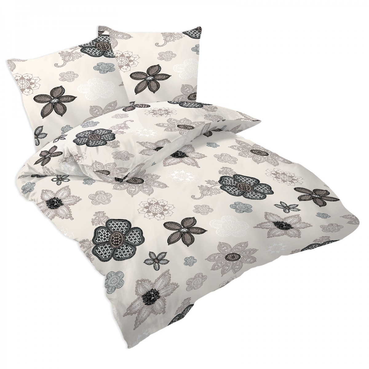 monna 100 coton parure de lit housse de couette et taies d 39 oreiller soulbedroom. Black Bedroom Furniture Sets. Home Design Ideas
