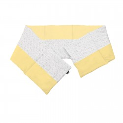 Yellow and Circles - Cot / Crib Bumper Pad Half