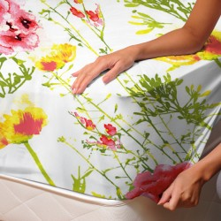 Iris Flowers - Fitted Sheet / 100% Cotton Bedding