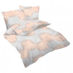Кръгове - 100% памук спален комплект (плик и калъфки)