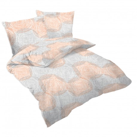 Rings - 100% Cotton Bed Linen Set (Duvet Cover & Pillow Cases)