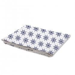 Navy Bleu - Drap / 100% Coton Linge de Lit