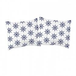 Navy - Taies d'oreiller ou traversin / 100% Coton