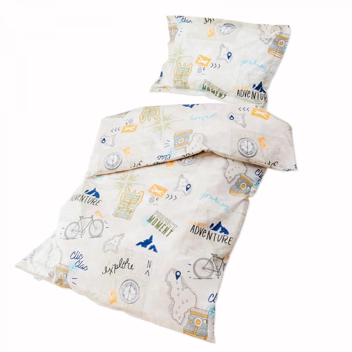 le voyage 100 coton parure de lit pour b b housse de. Black Bedroom Furniture Sets. Home Design Ideas