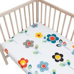 I Story Blanc / Lot de 2 Draps Housse - 100% Coton linge de lit pour bébé