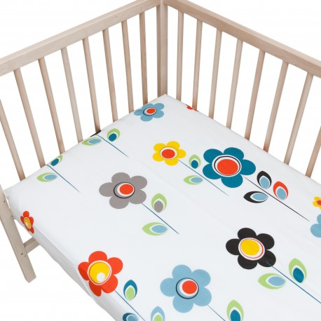 Baby I Story White / Pack of 2 Fitted Sheet - 100% Cotton Cot / Crib Bedding