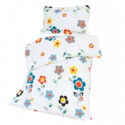 I Story Blanc - 100% Coton parure de lit pour bébé (Housse de couette et Taie d'oreiller)