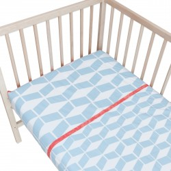 Géométrique / Lot de 2 Draps Housse - 100% Coton linge de lit pour bébé