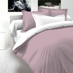 Пепел от рози & Бяло - 100% памук САТЕН спален комплект (плик и калъфки)