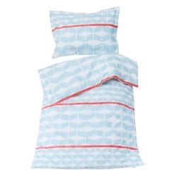 Géométrique - 100% Coton parure de lit pour bébé (Housse de couette et Taie d'oreiller)