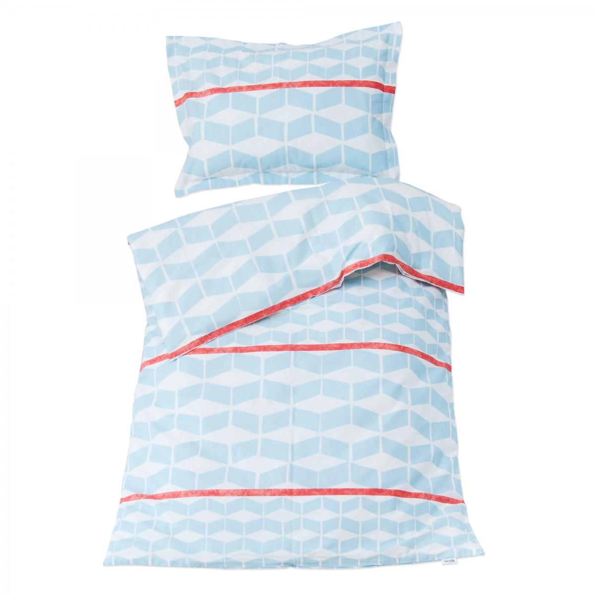 G om trique 100 coton parure de lit pour b b housse for Housse de couette lit bebe