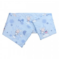 Baby Happy Lambs (Blue) - Pati'Chou Cot / Crib Bumper Pad Half