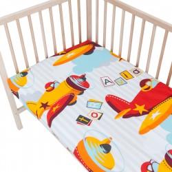 Baby Aviator / Planes - Lot de 2 Draps Housse - 100% Coton linge de lit pour bébé