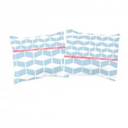 Géométrique (Paris à bicyclette convenable) - Taies d'oreiller ou traversin / 100% Coton