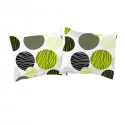 Vert (Lime) - Taies d'oreiller / 100% Coton