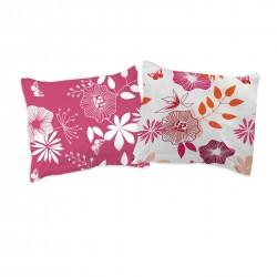 Les Fleurs Coquettes - Taies d'oreiller ou traversin / 100% Coton
