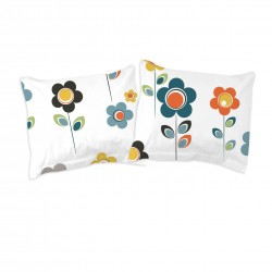 White I Story Flowers - Pillow cases / 100% Cotton Bedding