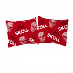 Love Skull - Pillow cases / 100% Cotton Bedding