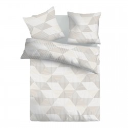 Arlette Grey - 100% Cotton Bed Linen Set (Duvet Cover & Pillow Cases)