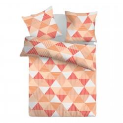 Арлет Оранжево - 100% памук спален комплект (плик и калъфки)
