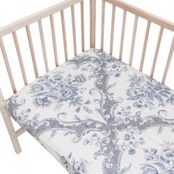 Venise / Lot de 2 Draps Housse - 100% Coton linge de lit pour bébé et enfant