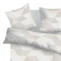 Арлет Сиво - 100% памук спален комплект (плик и калъфки)