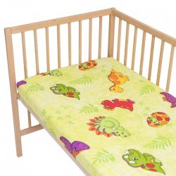 Baby Dinosaurs / Pack of 2 Fitted Sheet - 100% Cotton Cot / Crib Bedding