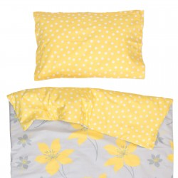 Кресида - 100% памук бебешки спален комплект (торба и калъфка)